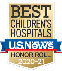 Cincinnati Children's award - U.S. News & World Report 2019-2020 Best Children's Hospitals